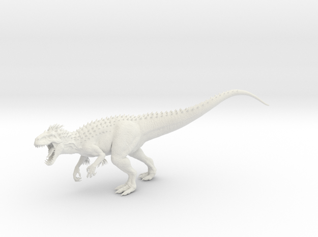 Indominus Rex 1:144 in White Natural Versatile Plastic