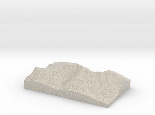 Model of South Peak in Natural Sandstone