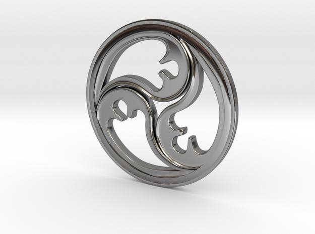 Triskell 2.9 cm in Premium Silver