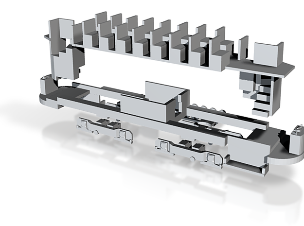 Chassis Streamliner Johannesburg 3d printed