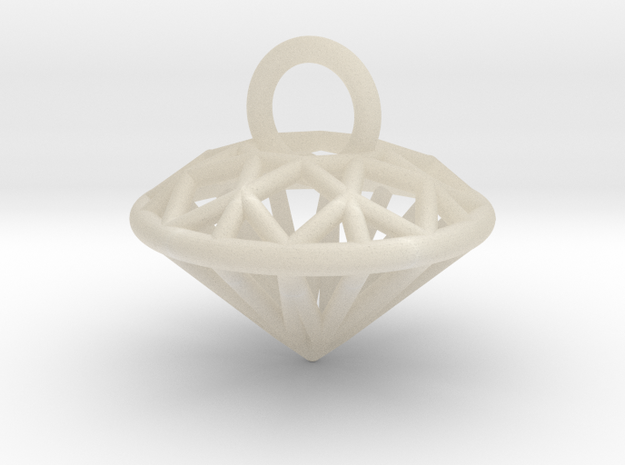 3D Printed Diamond is My Best Friend Pendant Small
