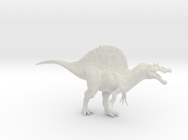Spinosaurus 1/144th Scale DeCoster in White Natural Versatile Plastic