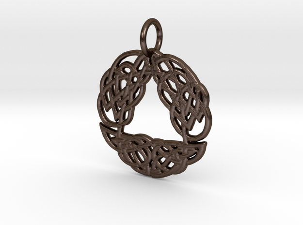 Celtic Arch Pendant in Polished Bronze Steel