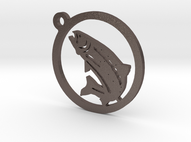 Fish Keychain 1 in Stainless Steel