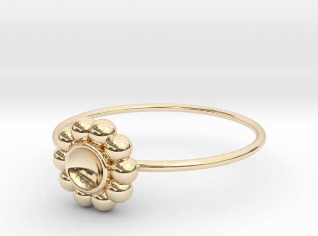 Size 9 Shapes Ring S5 in 14k Gold Plated Brass