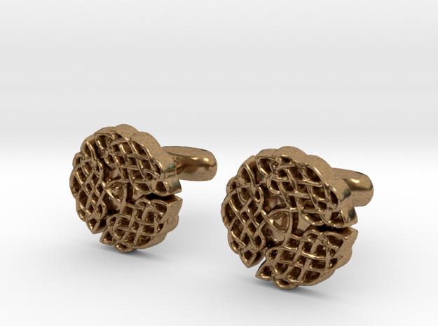 Celtic Circle cufflinks in Natural Brass
