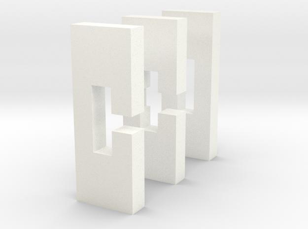 Puzzle -- Cross in White Processed Versatile Plastic