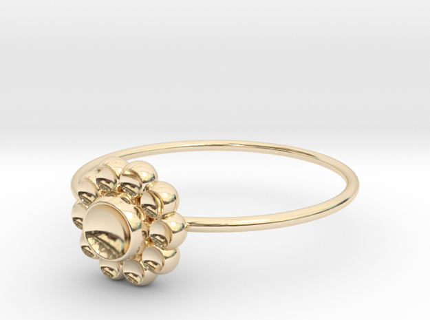 Size 9 Shapes Ring S4 in 14k Gold Plated Brass