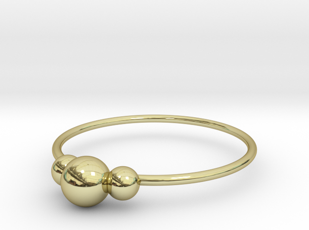 Size 7 Shapes Ring S2 in 18k Gold Plated Brass