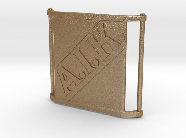 Charm Large - AIK in Matte Gold Steel