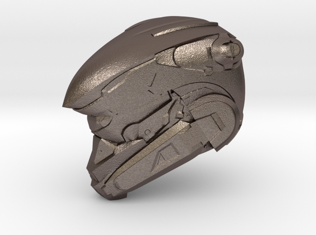 Anubis 1/6 Scaled helmet in Polished Bronzed Silver Steel