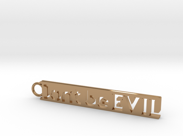 Don't be Evil Simple Keychain in Polished Brass