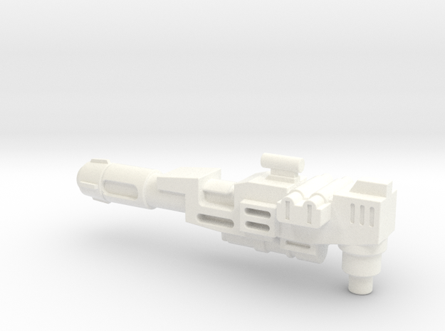 Transformers Thunderclash gun. in White Processed Versatile Plastic