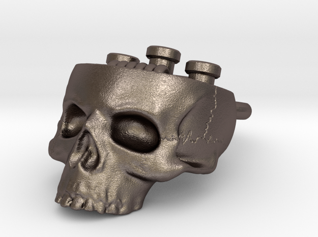 Hollow Skull Atty Pendant - Steel Now Available in Stainless Steel