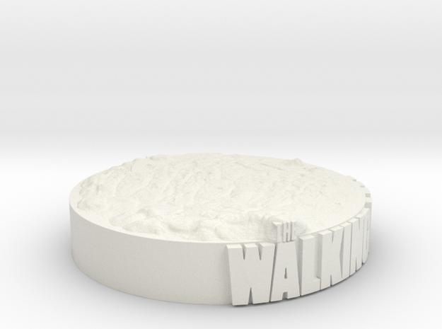 Base Display for Walking Dead Figures in White Natural Versatile Plastic