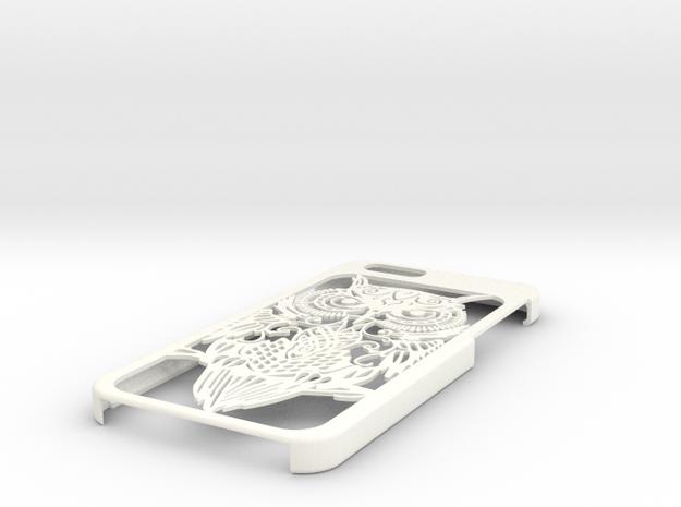 Owl Case - Iphone 6 in White Processed Versatile Plastic