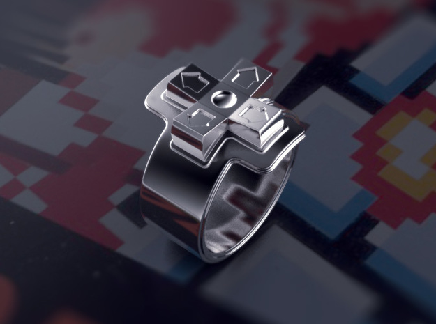 NES D-pad Ring in Raw Silver