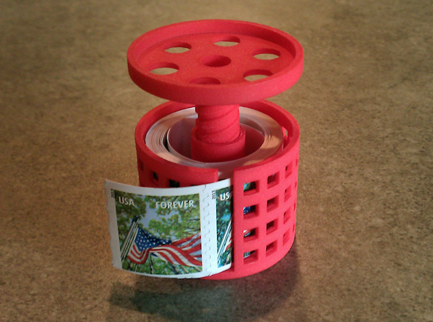 stamp roll dispenser The Postmaster 1 3d printed