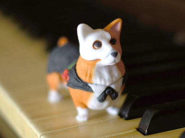 Corgi Of The Opera in Full Color Sandstone