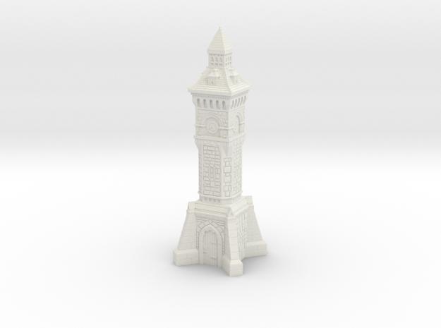N Gauge Victorian Clock Tower in White Natural Versatile Plastic