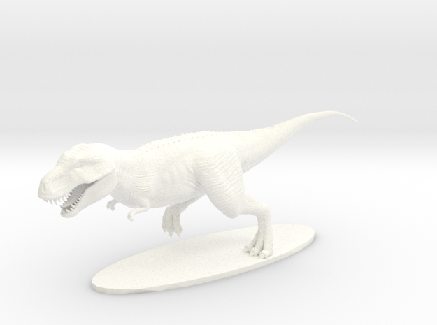 T-Rex in White Processed Versatile Plastic