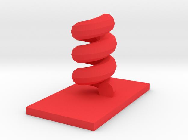 Helix in Red Processed Versatile Plastic