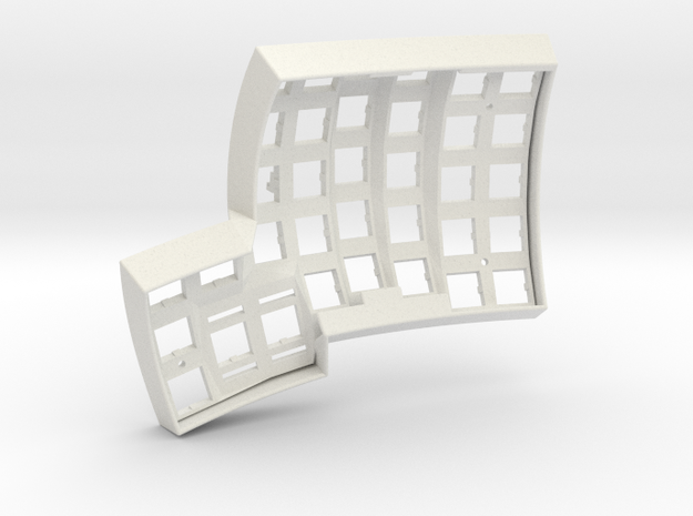 Dactyl Keyboard - Right Top in White Natural Versatile Plastic