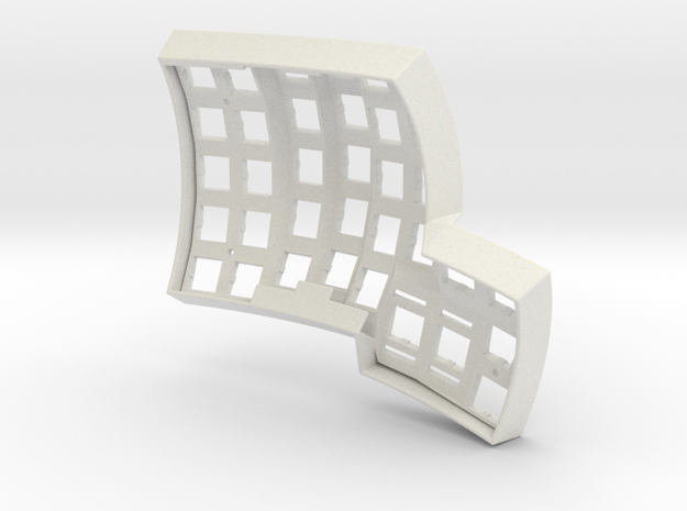 Dactyl Keyboard - Left Top in White Natural Versatile Plastic