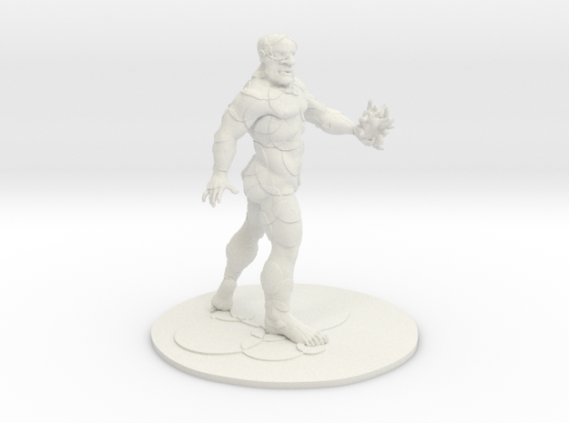 PROMETHEUS WITH ARMOR  in White Natural Versatile Plastic