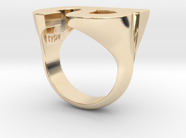 Helvetica Ring A  SZ5 in 14K Gold