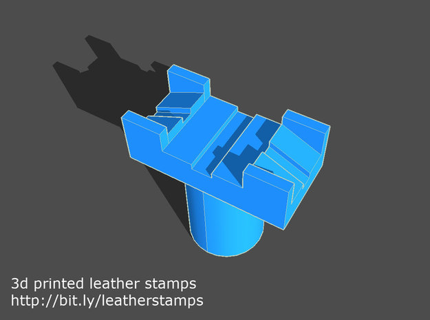 Leather stamp 3 + tool, basic leatherwork pattern in Yellow Processed Versatile Plastic