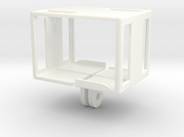 Gopro Dual Pole Mount in White Processed Versatile Plastic