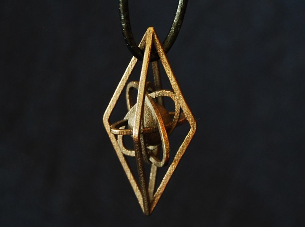 The atome in Polished Bronze Steel
