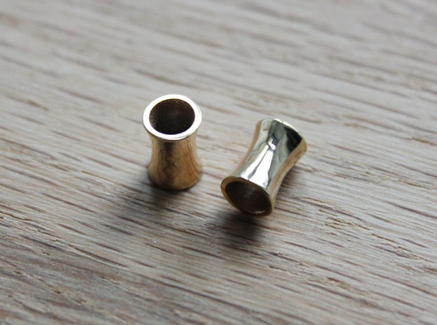 5 mm tunnels in 18k Gold Plated Brass