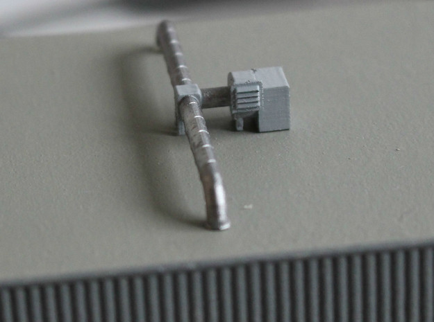 N Scale 3x Rooftop Fan +Ducts in Smooth Fine Detail Plastic