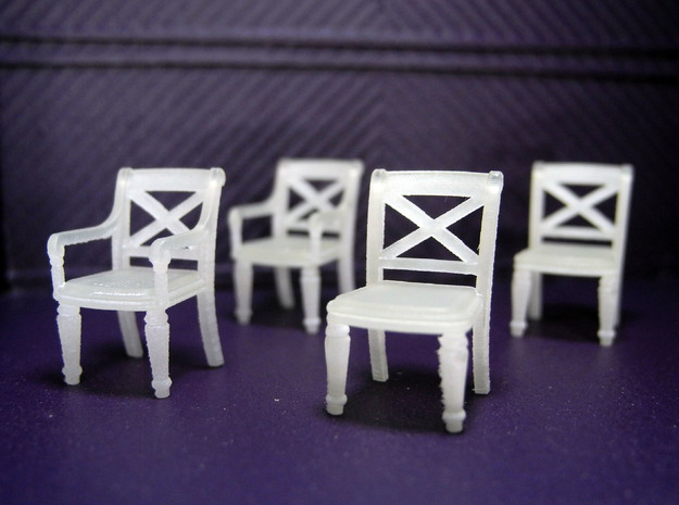1:48 Phyfe Chairs, Set of 4 in Frosted Ultra Detail