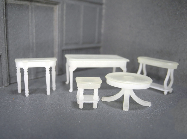 1:48 Set of Tables in Frosted Ultra Detail
