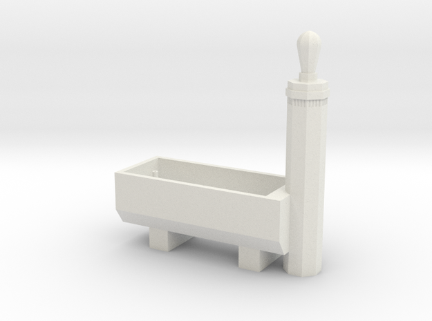 RhB Fountain - std ver. with hole in White Natural Versatile Plastic