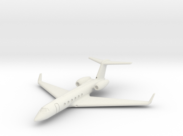 1:700 GulfStream V Business Class Jet Plane.  in White Natural Versatile Plastic
