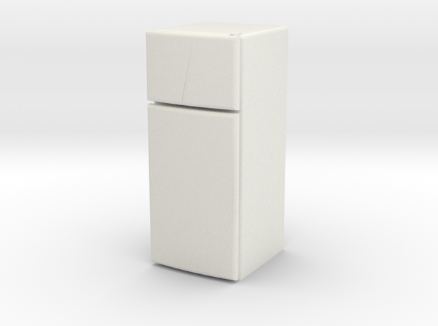 1:48 Apartment Small Fridge in White Natural Versatile Plastic