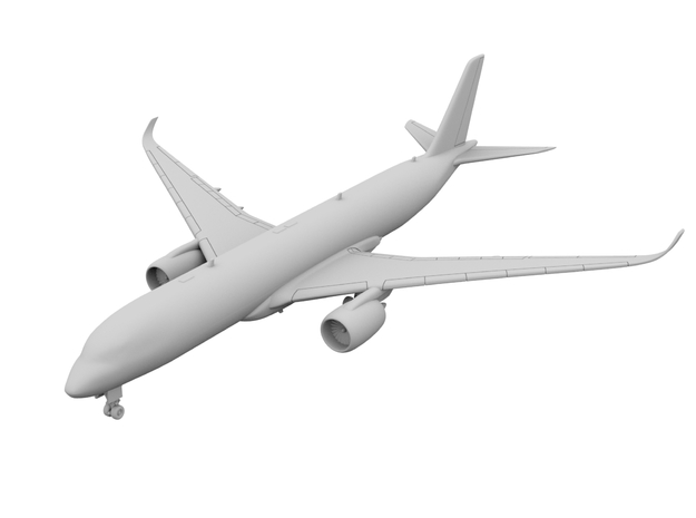 1:400 - A350-900 in Smooth Fine Detail Plastic