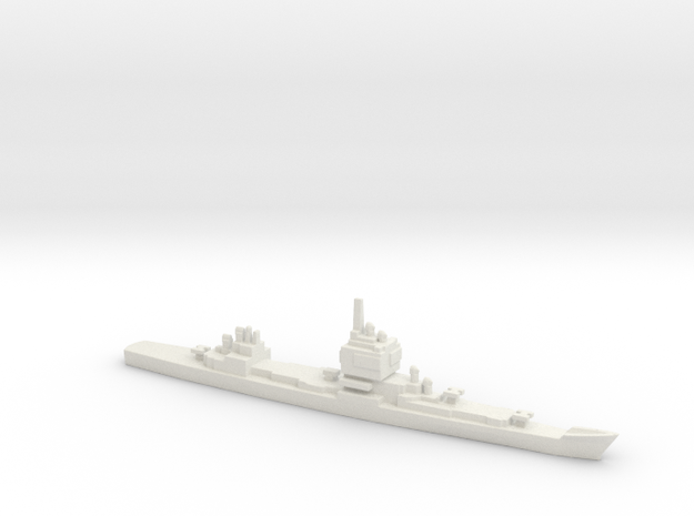USS Long Beach, 1961, 1/3000 in White Natural Versatile Plastic