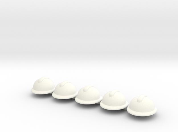 5 x Adrian wo in White Processed Versatile Plastic