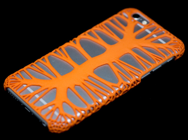 iPhone6 Case Endless Tree (Extreme Voronoi Ed.) in Orange Processed Versatile Plastic