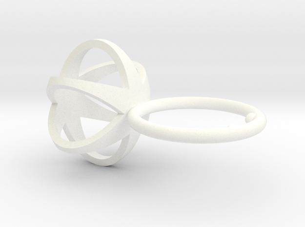 3D STAR GLITZ SPARKLE RING - size 6
