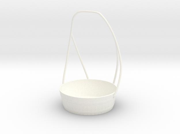 Detergent Cup Bucket in White Processed Versatile Plastic