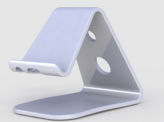 IPhone 6 Stand in White Strong & Flexible Polished