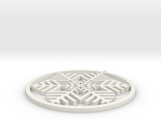 Gimbal Snowflake in White Strong & Flexible