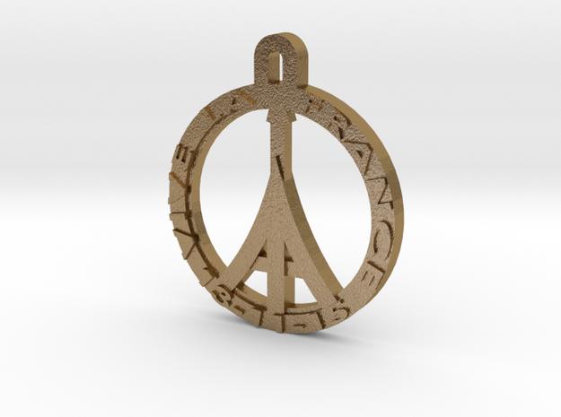VIVE LA FRANCE in Polished Gold Steel