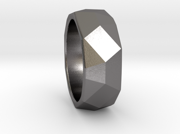 CODE: WP8RS - RING SIZE 7 in Polished Nickel Steel